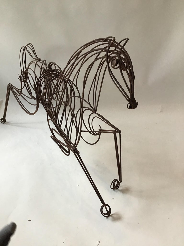 Large Iron Horse Sculpture For Sale 6