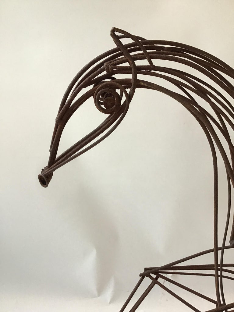 Large Iron Horse Sculpture For Sale 7