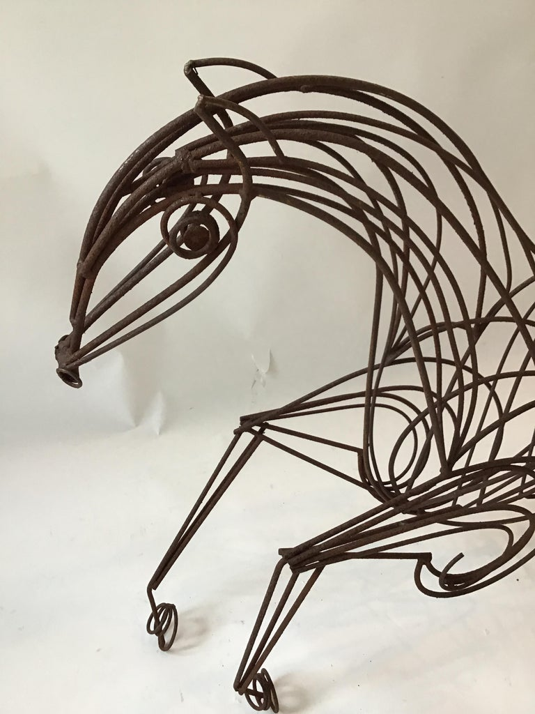 Large Iron Horse Sculpture For Sale 8