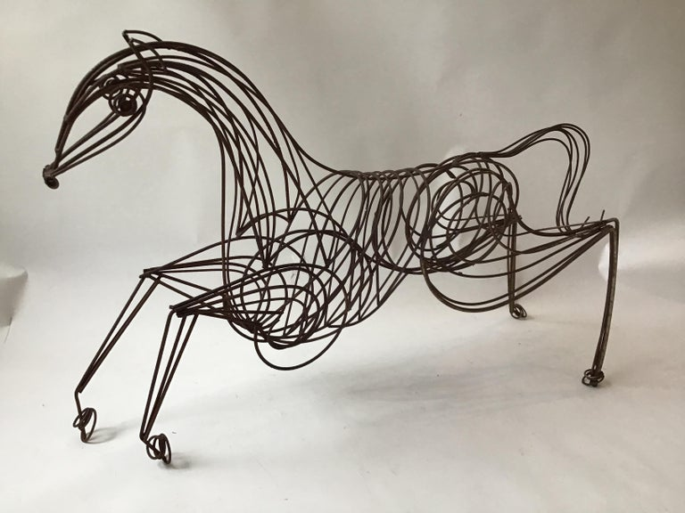 5' long iron horse sculpture. Sat in front of a Westchester, NY estate for years.