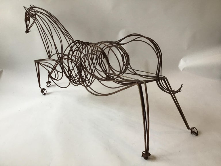 Large Iron Horse Sculpture For Sale 2