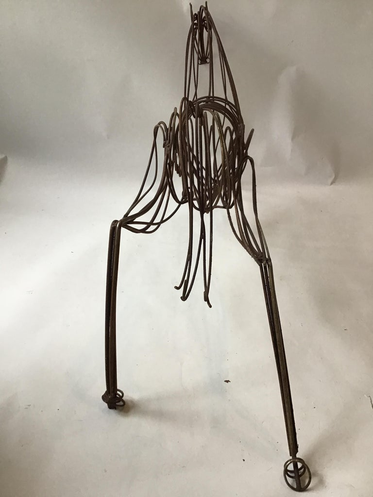 Large Iron Horse Sculpture For Sale 3