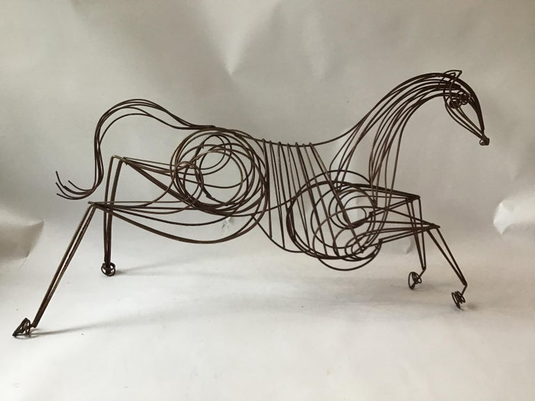 Large Iron Horse Sculpture For Sale 4