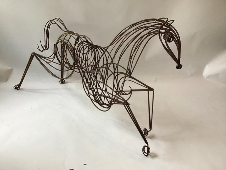 Large Iron Horse Sculpture For Sale 5
