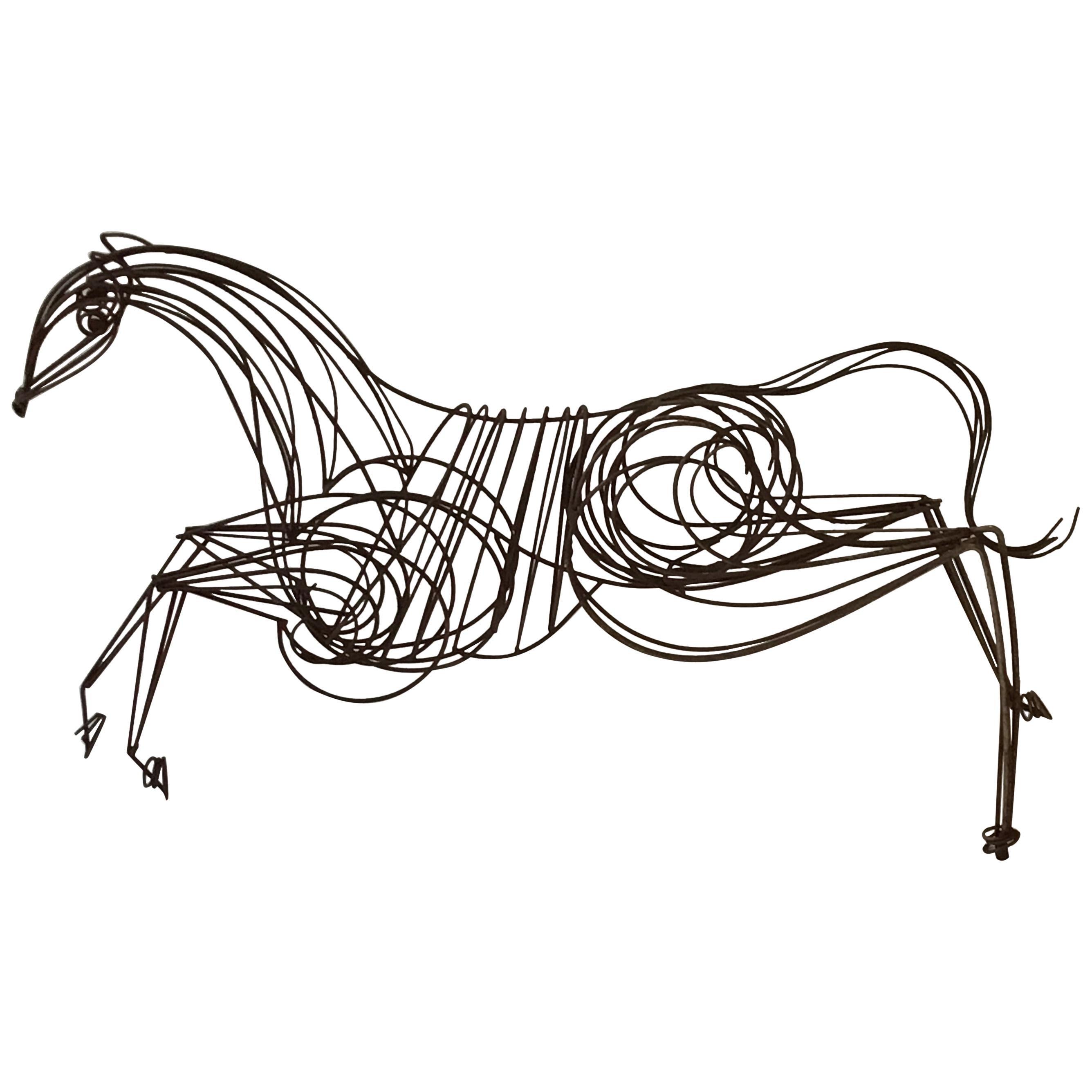 Large Iron Horse Sculpture