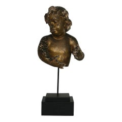 Large Italian 17th-18th Century Fragment of a Baroque Angel