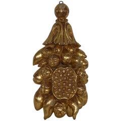 Large Italian 18th Century Baroque Giltwood Ornament