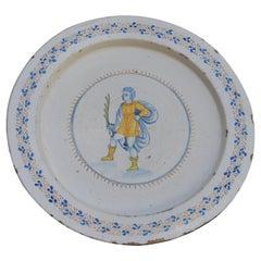 Large Italian 18th Century Faience Plate