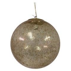 Large Italian 1960s Murano Glass Globe Pendant