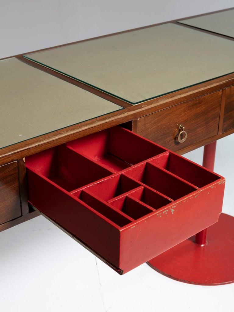 Mid-20th Century Large Italian 1960s Wood Counter