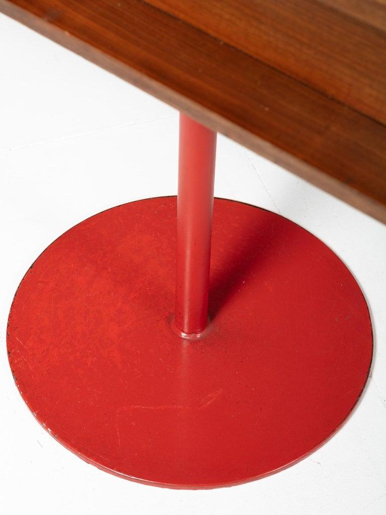 Glass Large Italian 1960s Wood Counter