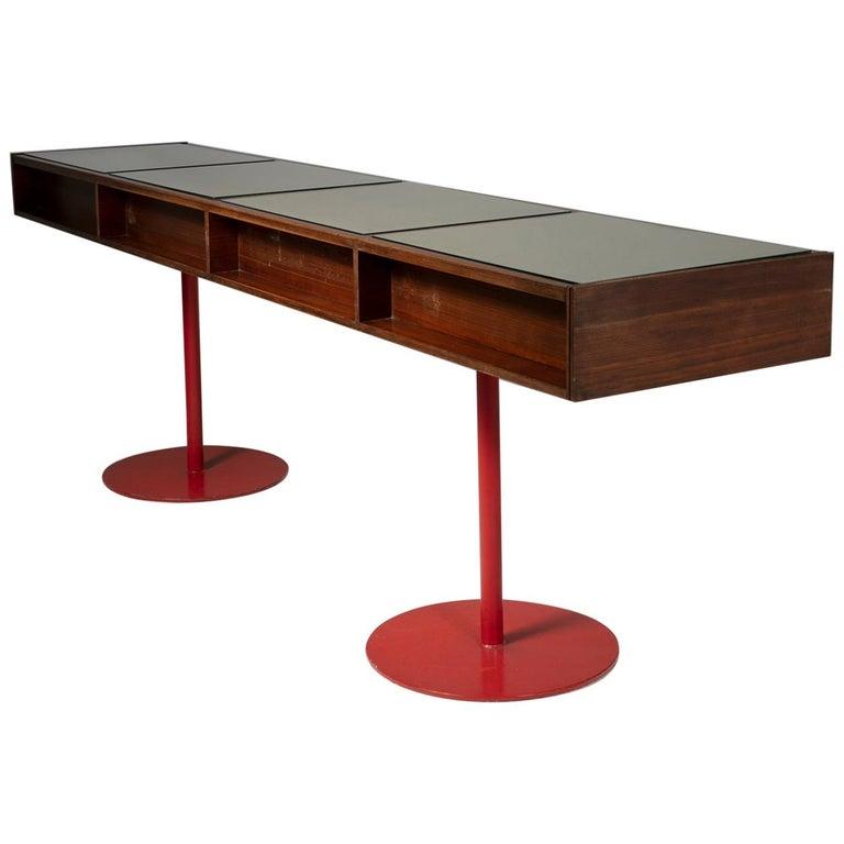 Large Italian 1960s Wood Counter