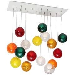 Large Italian Ball Chandelier