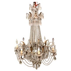 Large Italian Baltic Style Beaded Chandelier
