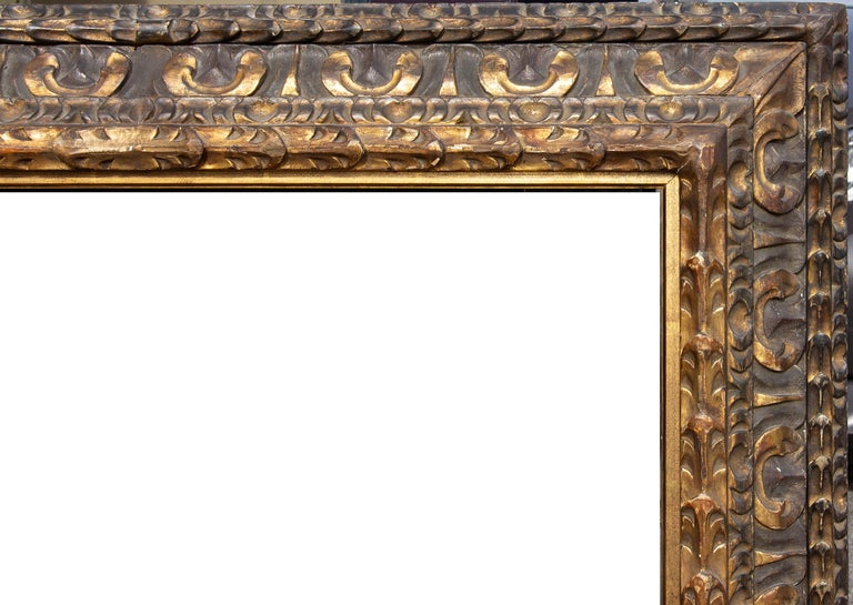 Robustly carved and gilded Italian cassetta frame, 19th century.