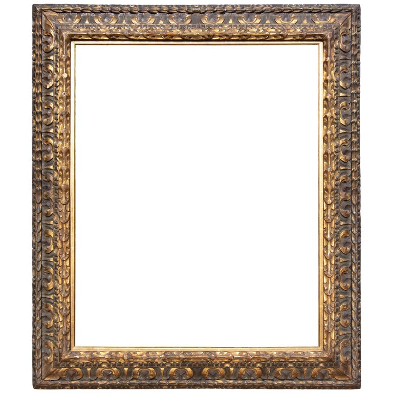 Large Italian Baroque Cassetta Frame For Sale