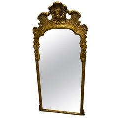 Large Italian Carved Venetian Gold Walnut Mirror