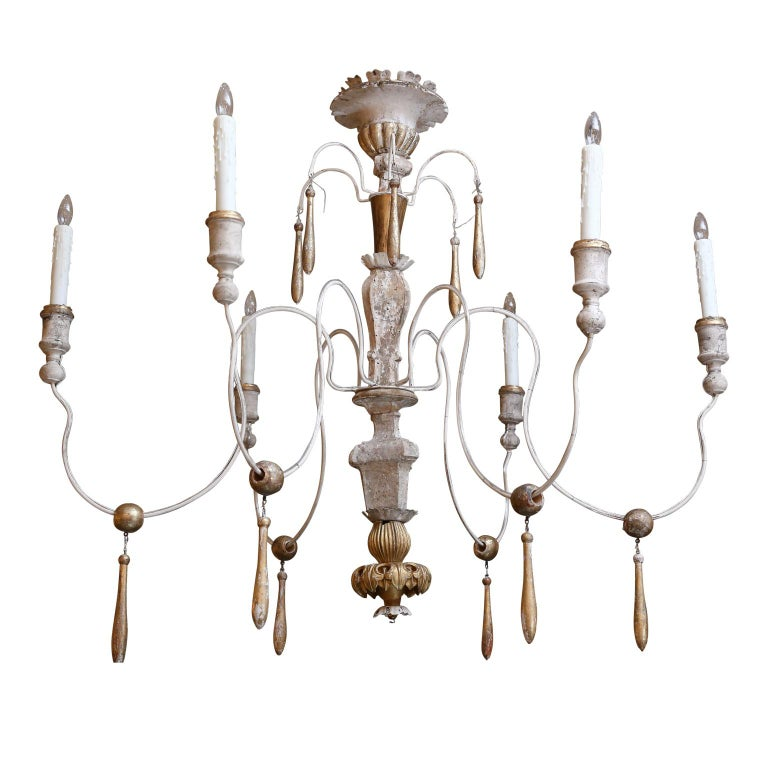 French Provincial Large Italian Chandelier For Sale