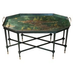 Large Italian Chinoiserie Tray Table Coffee Table