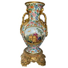 Large Italian Chinoiserie Vase