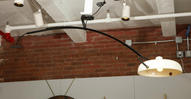 Large Italian Counterweight Light Fixture In Good Condition For Sale In New York, NY