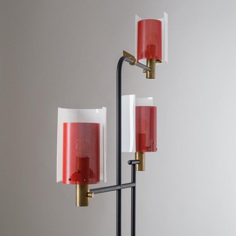 Large Italian Floor Lamp, 1950s For Sale 3