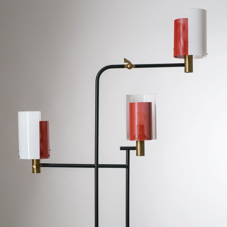 Large Italian Floor Lamp, 1950s For Sale 9