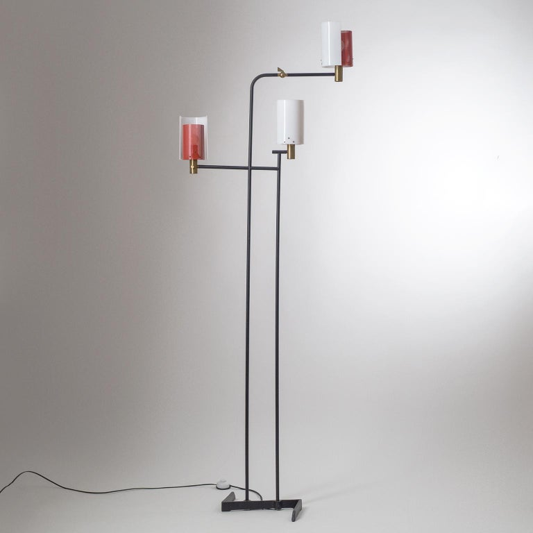 Large Italian Floor Lamp, 1950s For Sale 10