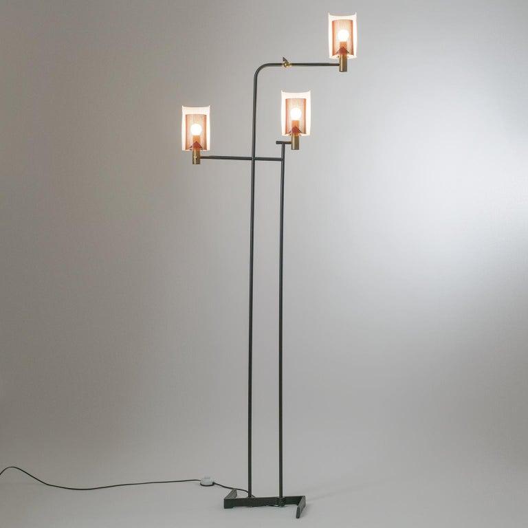 Large Italian Floor Lamp, 1950s For Sale 11