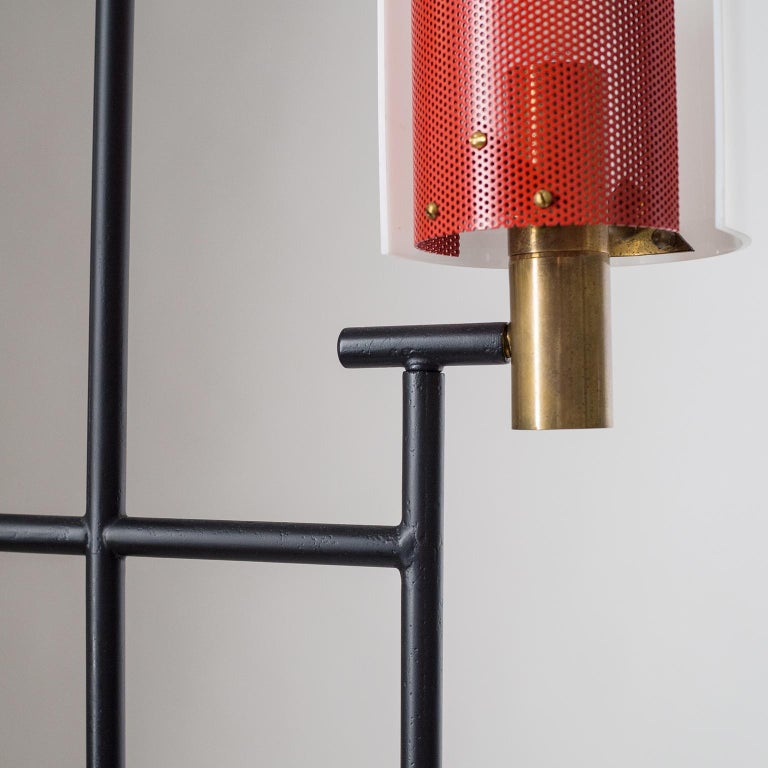 Brass Large Italian Floor Lamp, 1950s For Sale