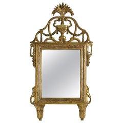 Large Italian Giltwood Antique Mirror