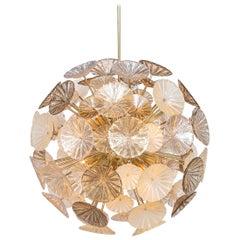 "Large Italian Handmade Venetian Glass ""Sputnik"" Chandelier"