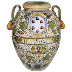 Large Italian Handpainted Wine Urn
