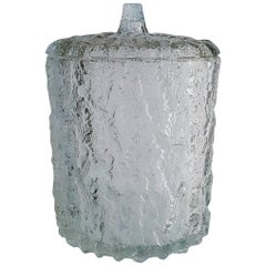 Large Italian Ice Bucket in Glass