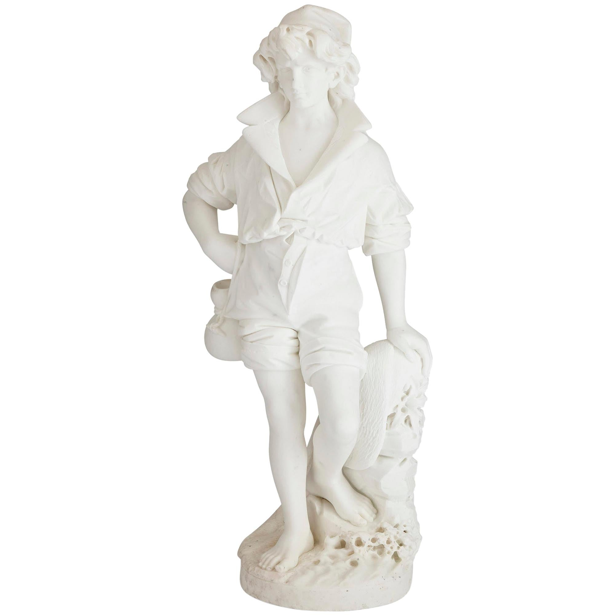 Large Italian Marble Sculpture by Pietro Bazzanti