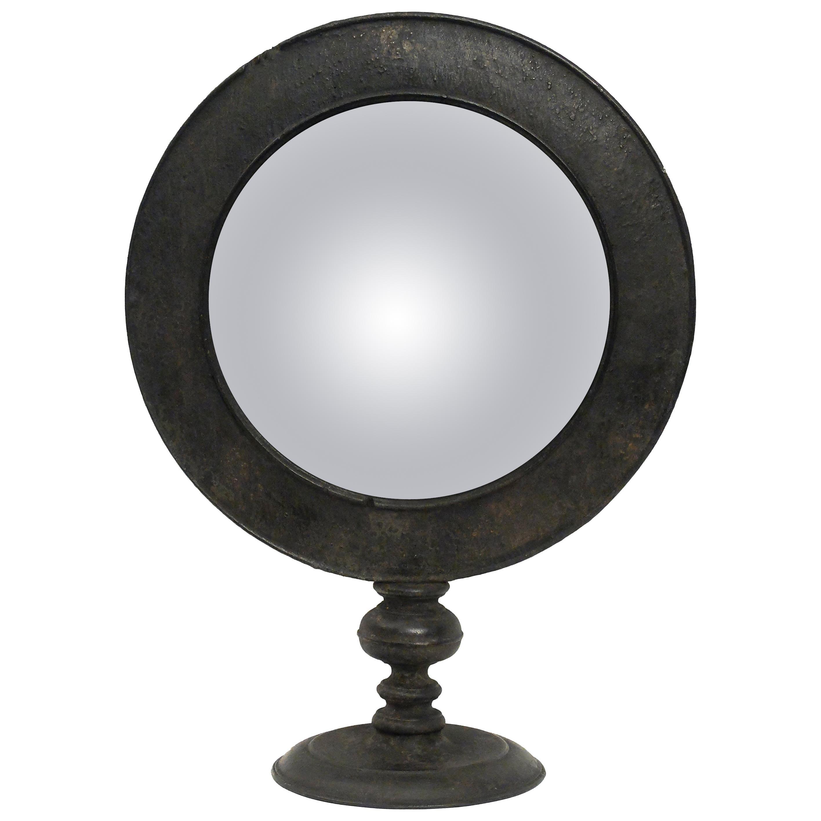 Large Italian Mid-19th Century Convex Table Mirror