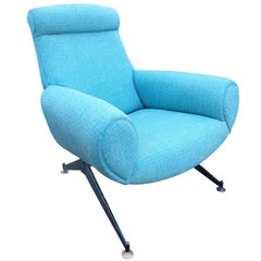 Large Italian Midcentury Club Chair, Italy, 1960s