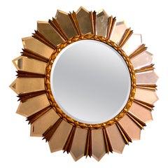 Large Italian Mid-Century Sunburst Mirror, 1960s