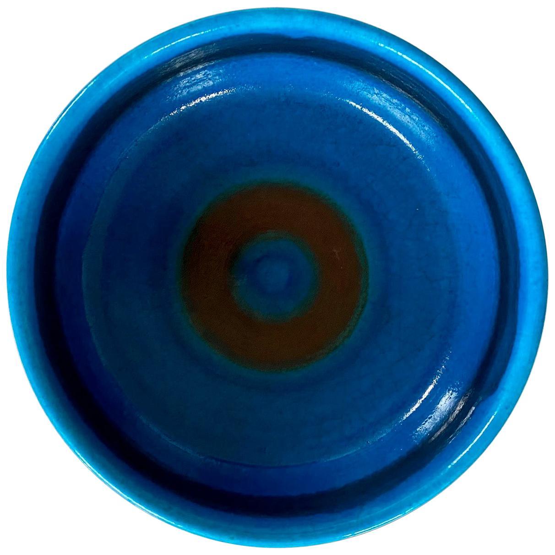 Large Italian Midcentury Ceramic Bowl Signed by Guido Gambone