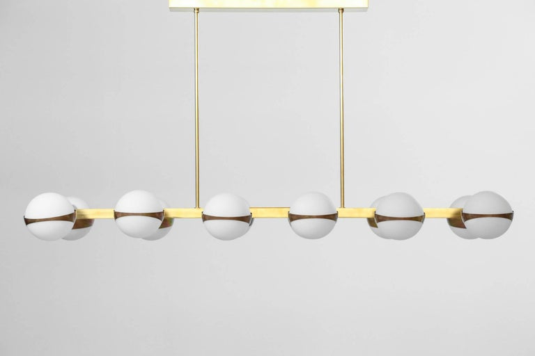 European Large Italian Modern Chandelier 12 Lights, Stilnovo Style For Sale
