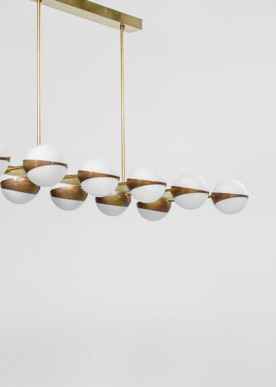 Contemporary Large Italian Modern Chandelier 12 Lights, Stilnovo Style For Sale