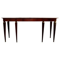 Large Italian Modernist Console Table Attributed to Paolo Buffa, circa 1946