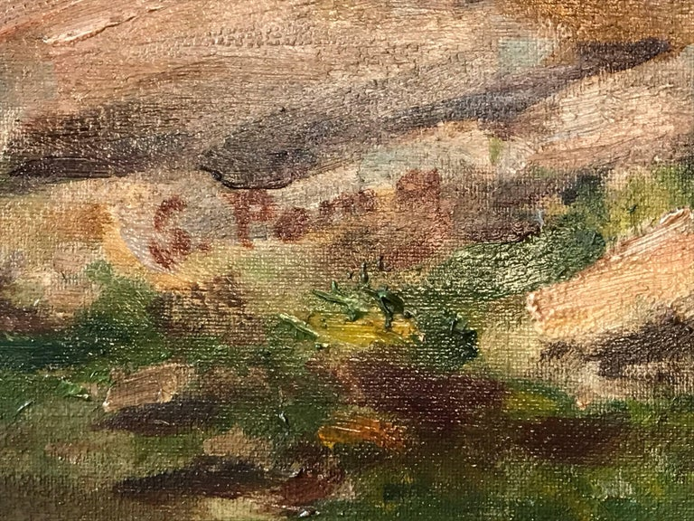 Large Italian Landscape Early 20th Century Mountain Painting by Silvio Poma  For Sale 6