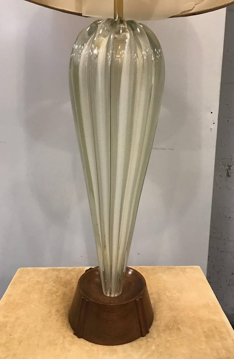 Mid-Century Modern Large Italian Murano Glass Lamp For Sale
