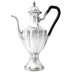 Large Italian Neoclassic Sterling Silver Coffee Pot, 1789