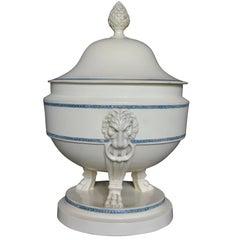 Large Neoclassical Creamware Tureen