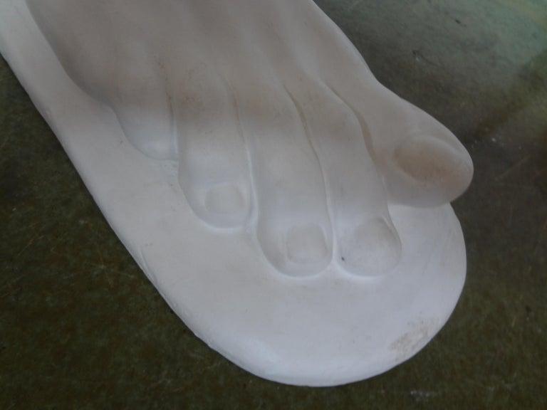 Italian Large Roman Neoclassical Plaster Foot of Hercules For Sale