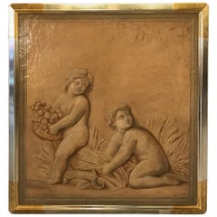 Large Italian Painting in Later Quality Frame