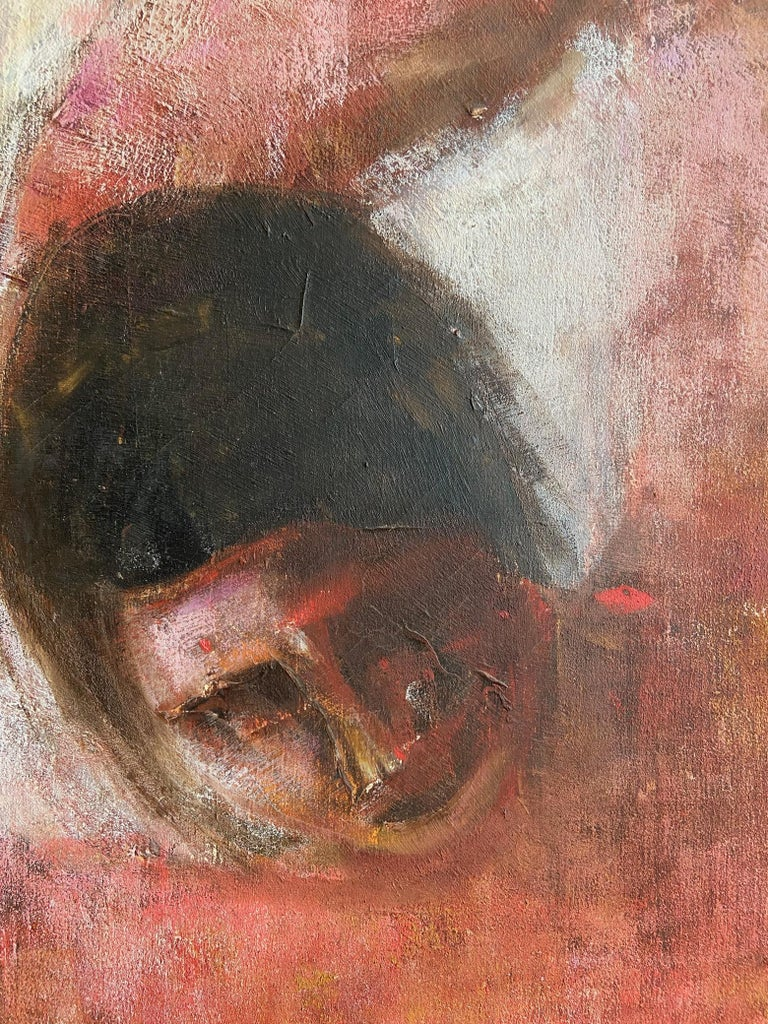 Large Italian Painting, Oil on Canvas of a Reclining Nude, circa 1970's For Sale 1