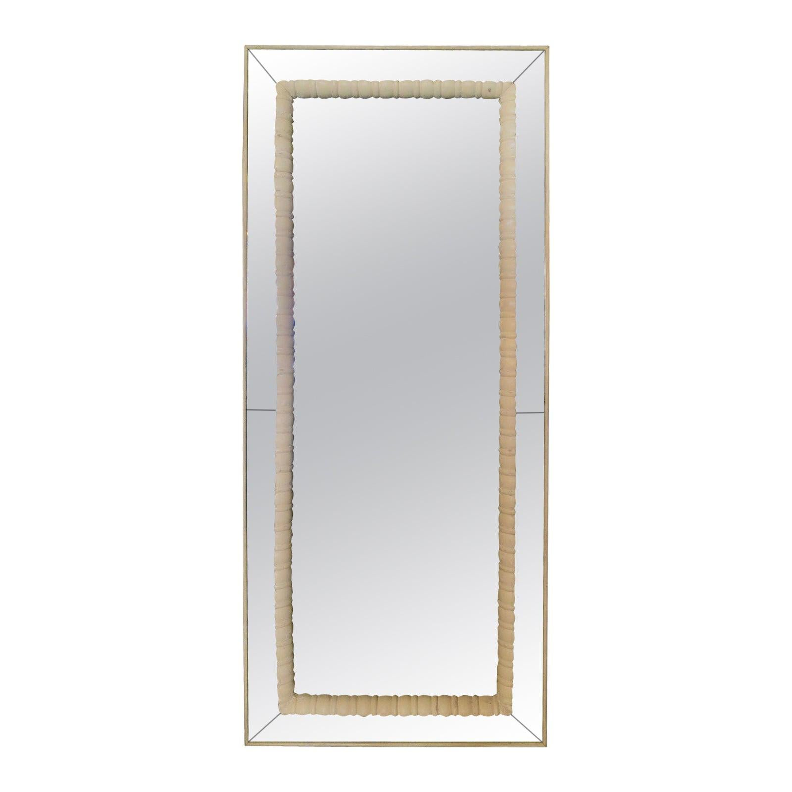 Large Italian Panelled and Bordered Mirror